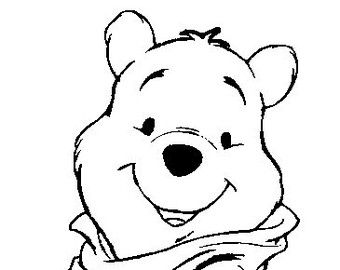 Image result for winnie the pooh face black and white.