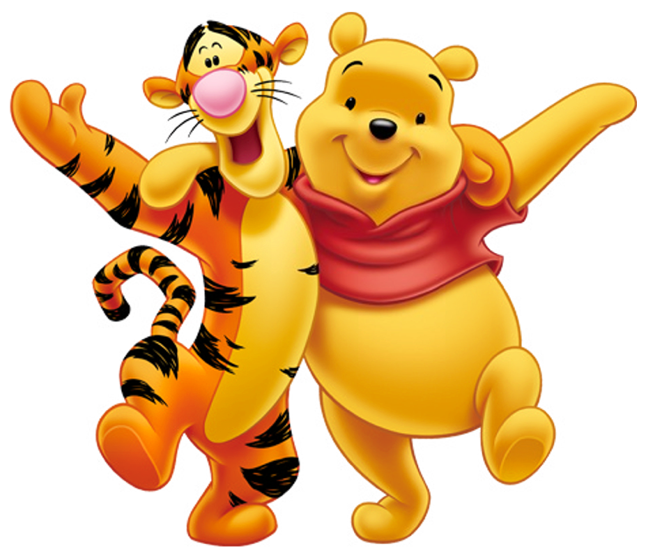 Transparent Winnie the Pooh and Tigger PNG Clipart.