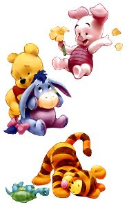 Winnie the pooh day of the week clipart.