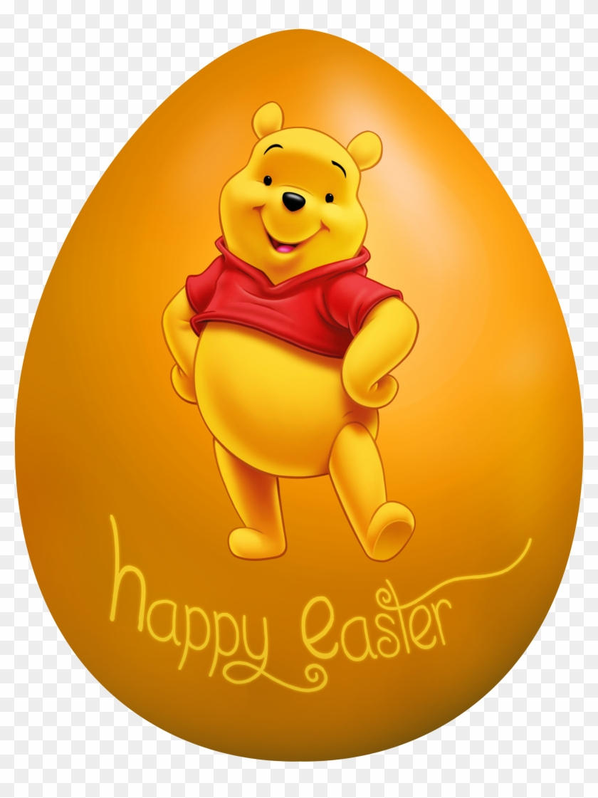 Kids Easter Egg Winnie The Pooh Png Clip Art Image.