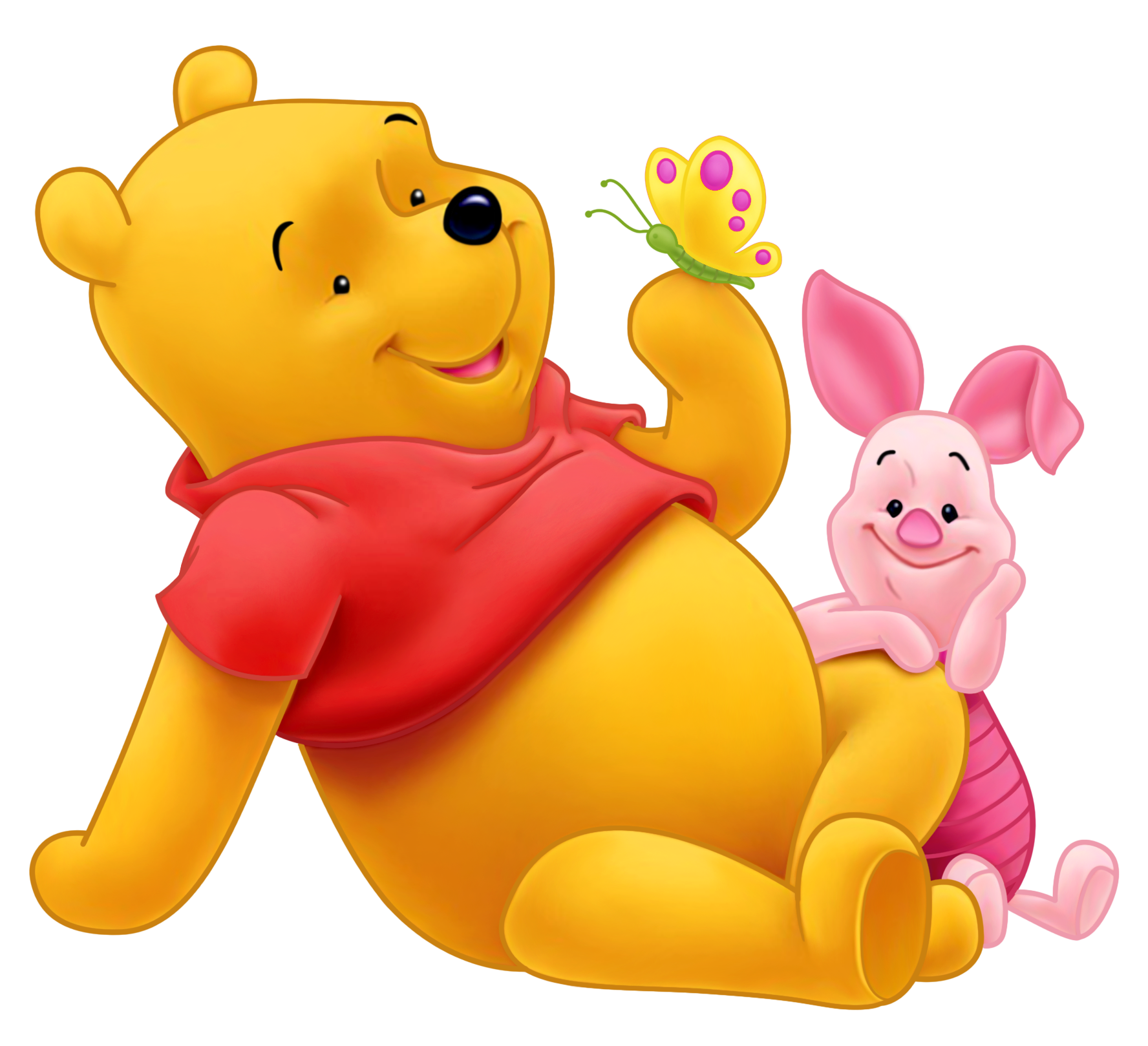 Winnie the Pooh and Piglet PNG Picture.