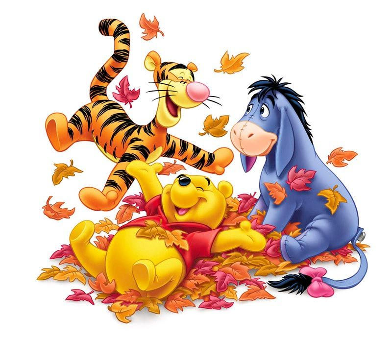 pooh & friends autumn © greg wray clipart.