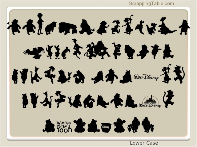 Winnie The Pooh Silhouette Clipart.