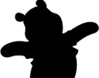 winnie the pooh silhouette clipart - Clipground