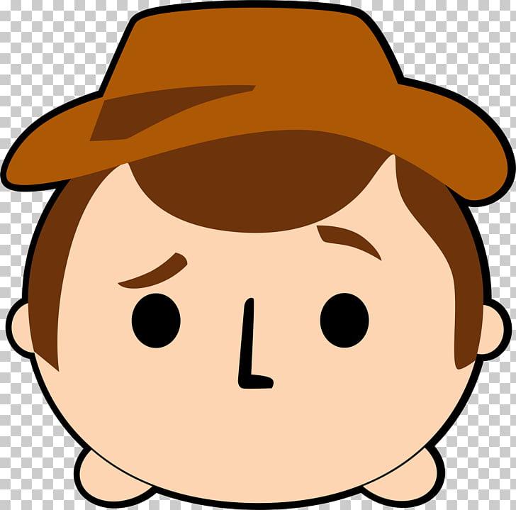 Disney Tsum Tsum , winnie the pooh, cowboy male head.