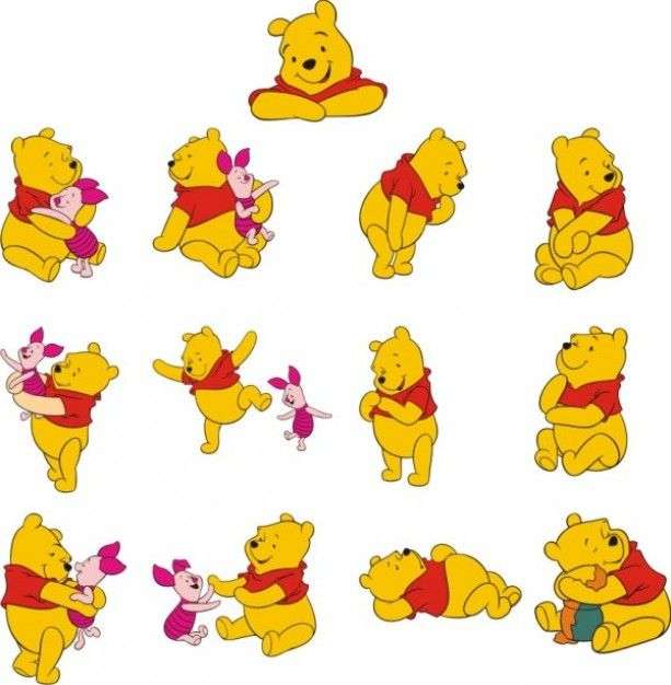 winnie the pooh vector material.