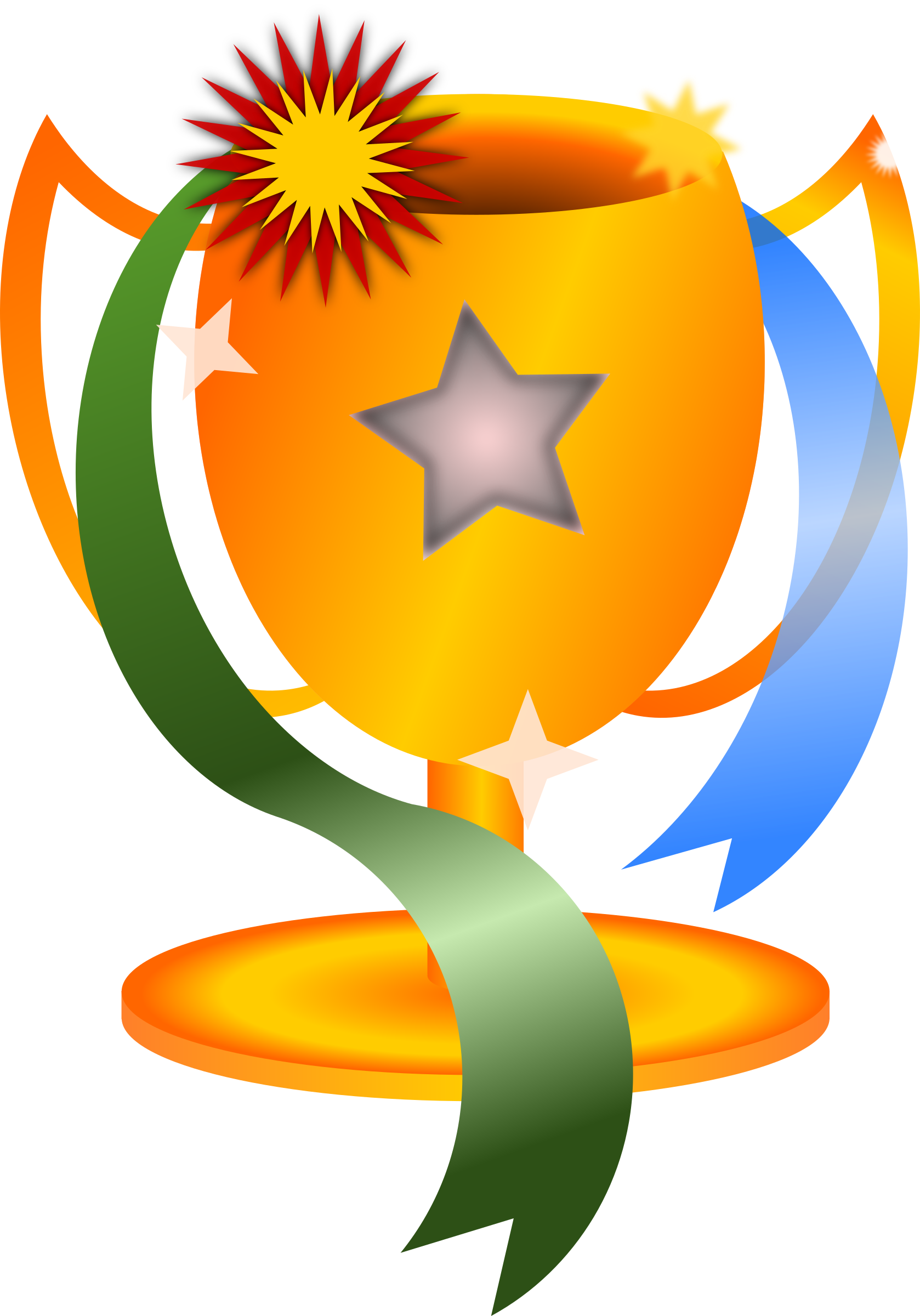 Winning trophy clipart clear.