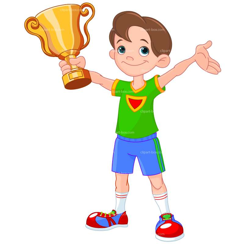 CLIPART BOY WITH CUP.