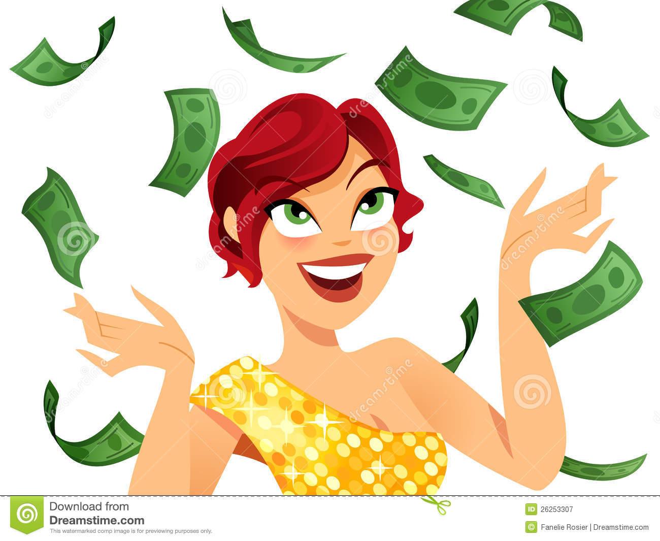 Winner stock vector. Illustration of lady, positive, pretty.