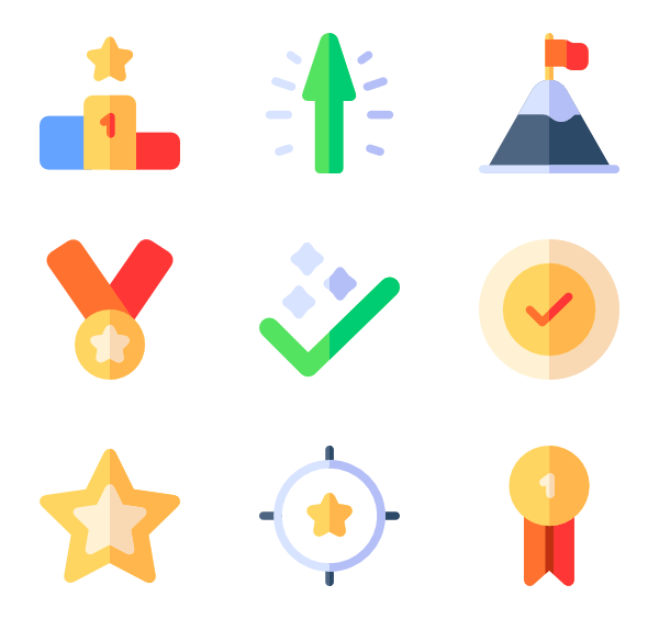 Winning 50 free icons (SVG, EPS, PSD, PNG files).
