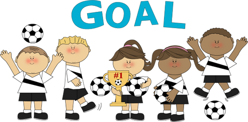 Cartoon Soccer Players in Action.