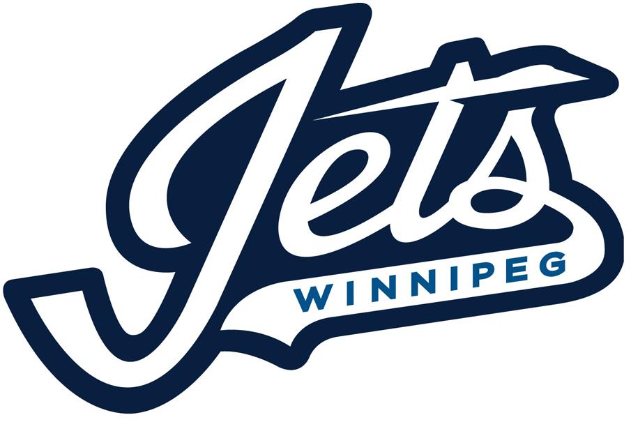Winnipeg Jets Wordmark Logo.