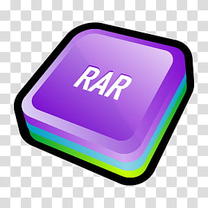 D Cartoon Icons II, WinRAR, letter Rar art transparent.