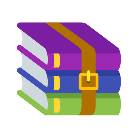 Winrar Logo Icon of Flat style.