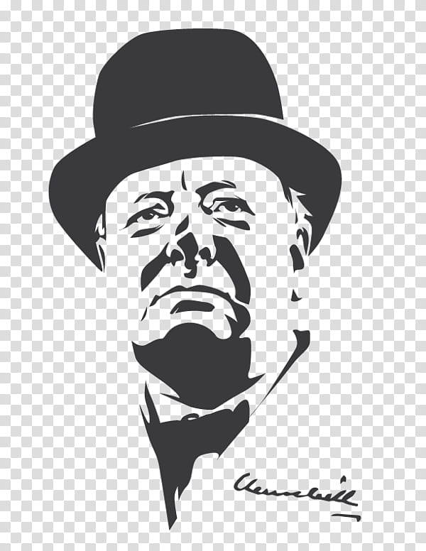 Winston Churchill transparent background PNG clipart.