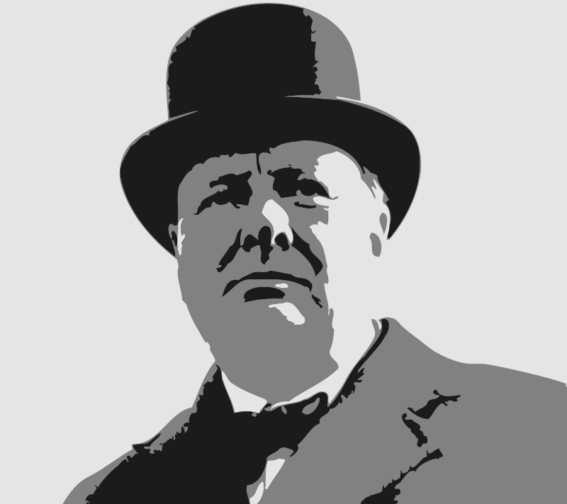Winston churchill clipart.