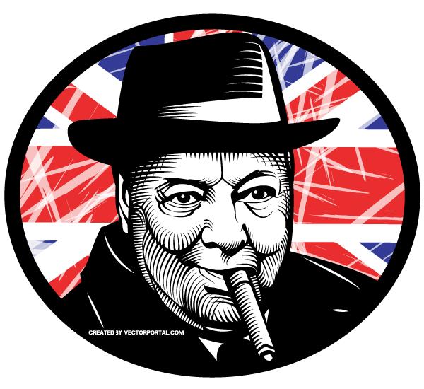 Churchill clipart.