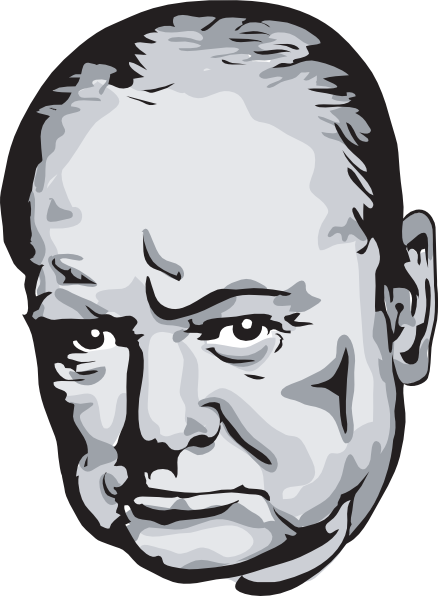 Winston Churchill clip art.