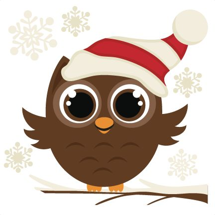 Winter Owl SVG cutting file christmas svg files.