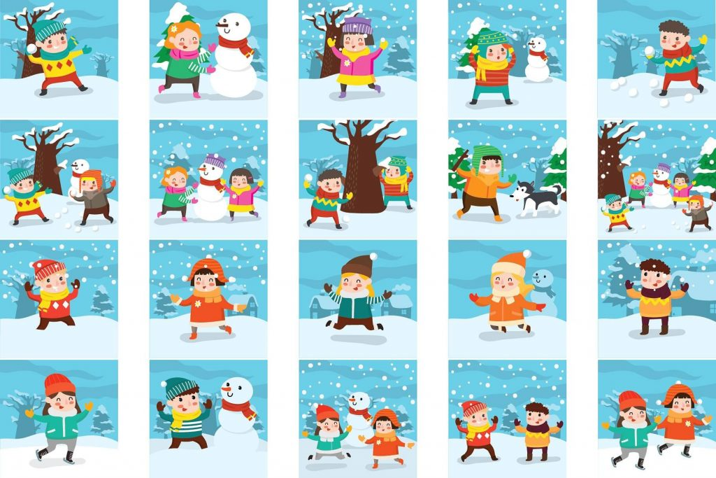 90+ Lovely Winter Clipart Bundle.