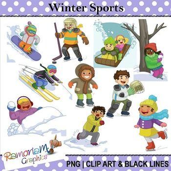 Winter Activities Clipart.