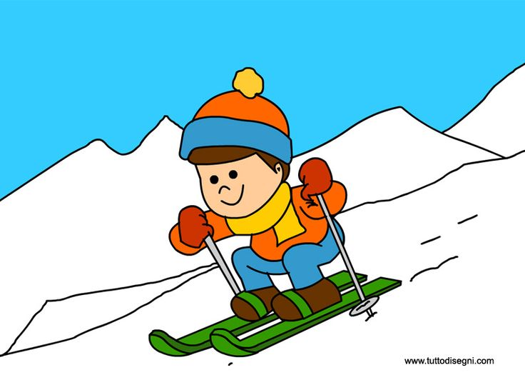 Winter Activities Clipart.