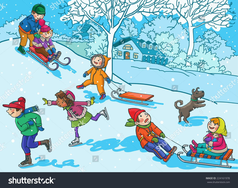 Clipart Winter Activities.