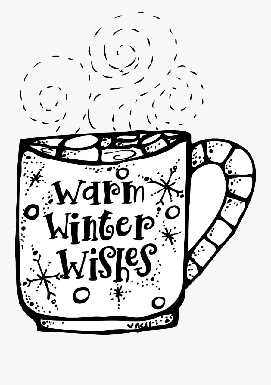 Winter Clipart Black And White Melonheadz Warm Wishes.