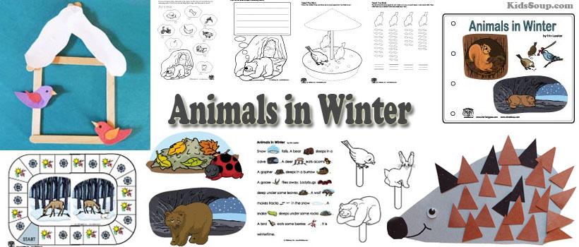 Animals in Winter Preschool Activities, Lessons, and.