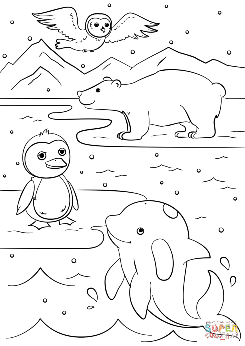 Coloring Pages Of Winter Animals.