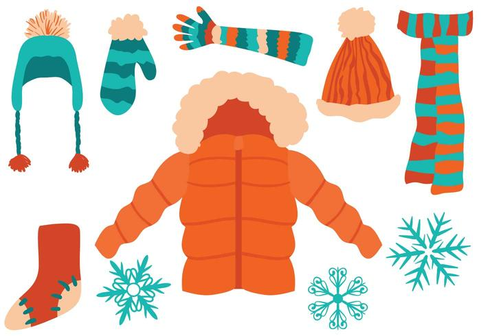 Free Winter Clothing Vectors.