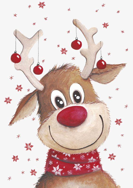 Christmas Deer, Deer Clipart, Elk, Red Bell PNG Transparent.