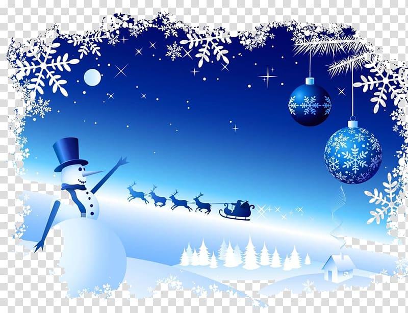 Snowman Snowflake Christmas, Winter snowman elk scene.