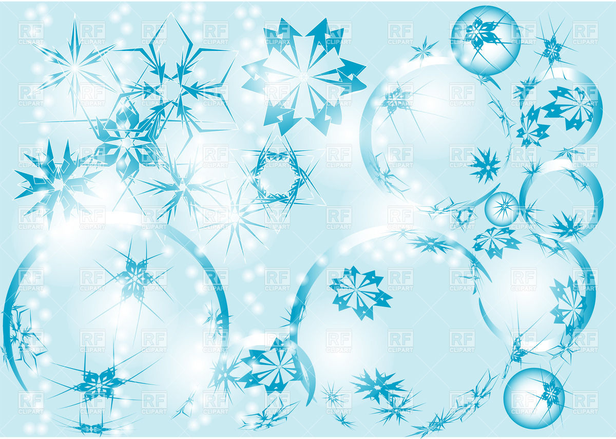 Winter Clipart Background.