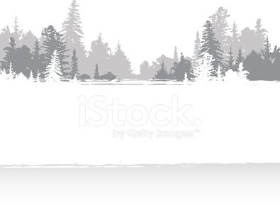 winter banner Clipart Image.