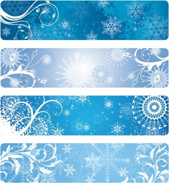 Winter Banners Free vector in Adobe Illustrator ai ( .AI.