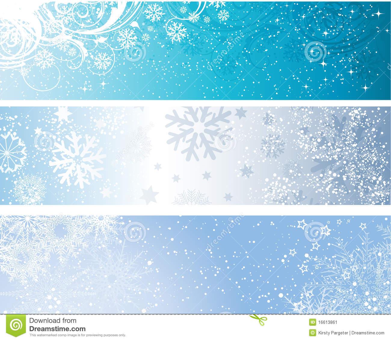 Winter Banner Clipart.