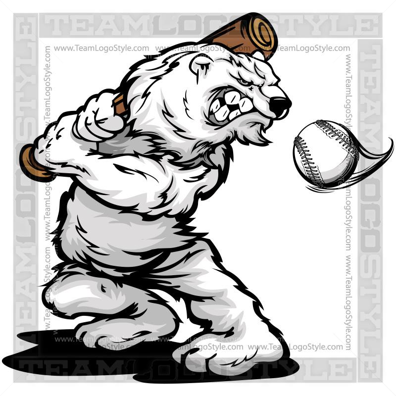 Winter Softball Clipart.