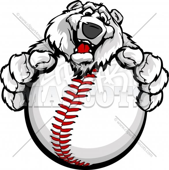 Winter Baseball Clipart Graphic Vector Cartoon.