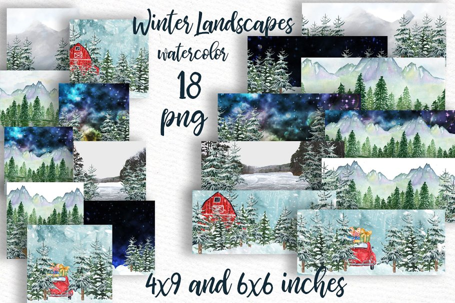 Winter background Holiday scenes.
