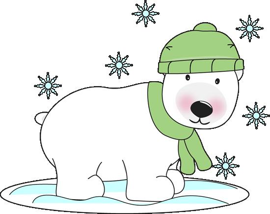 Free Christmas Polar Bear Clip Art Winter Amusing Clipart Impressive.