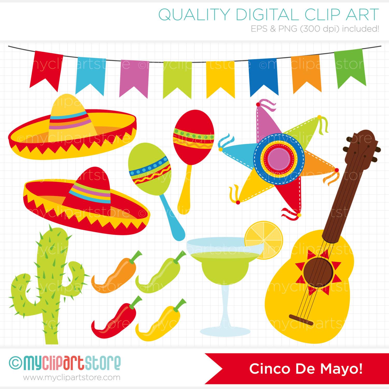 Clipart Cinco De Mayo / Mexico maracas clipart Piñata.