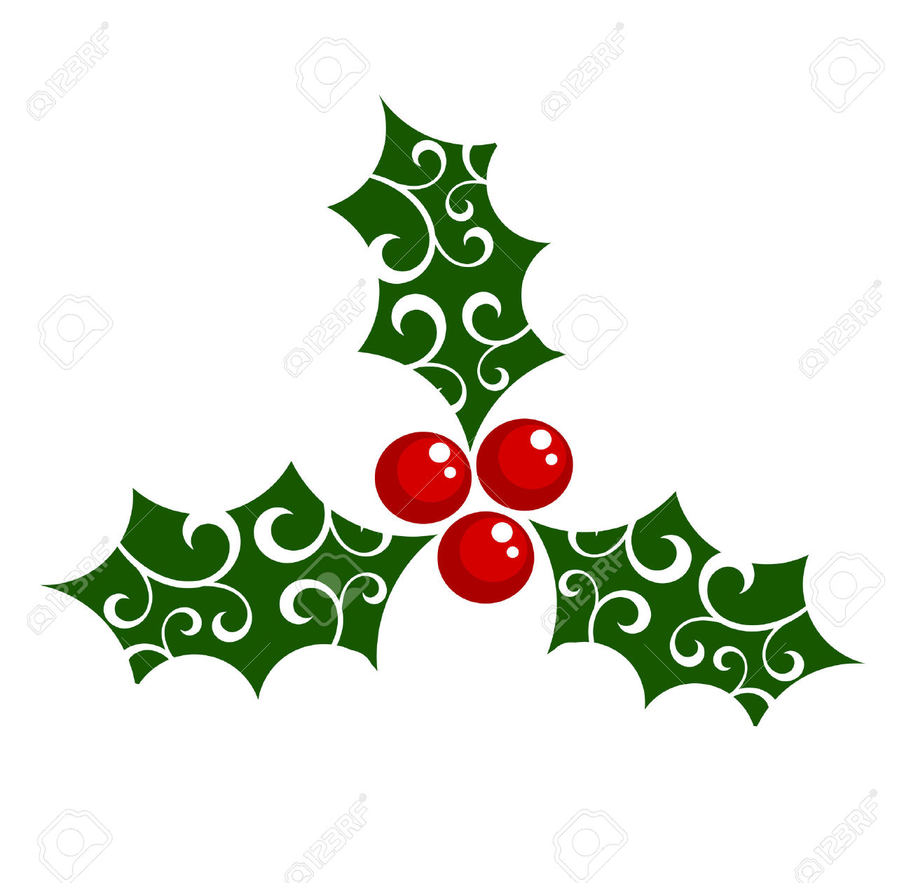 Free christmas holly berry clipart.