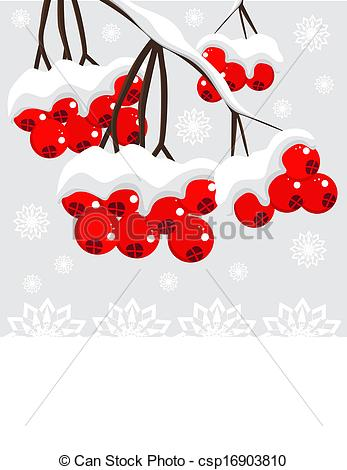 Winter Berries Clip Art.