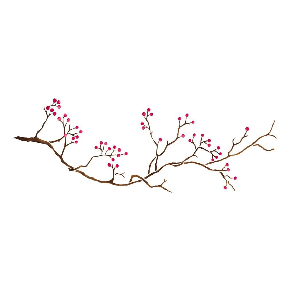 Designer Stencils Winterberry Branch Wall Stencil in 2019.