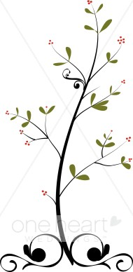 Winter Berries Clipart.