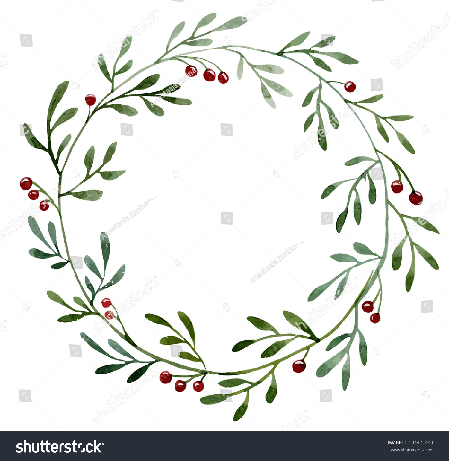 6278 Wreath free clipart.