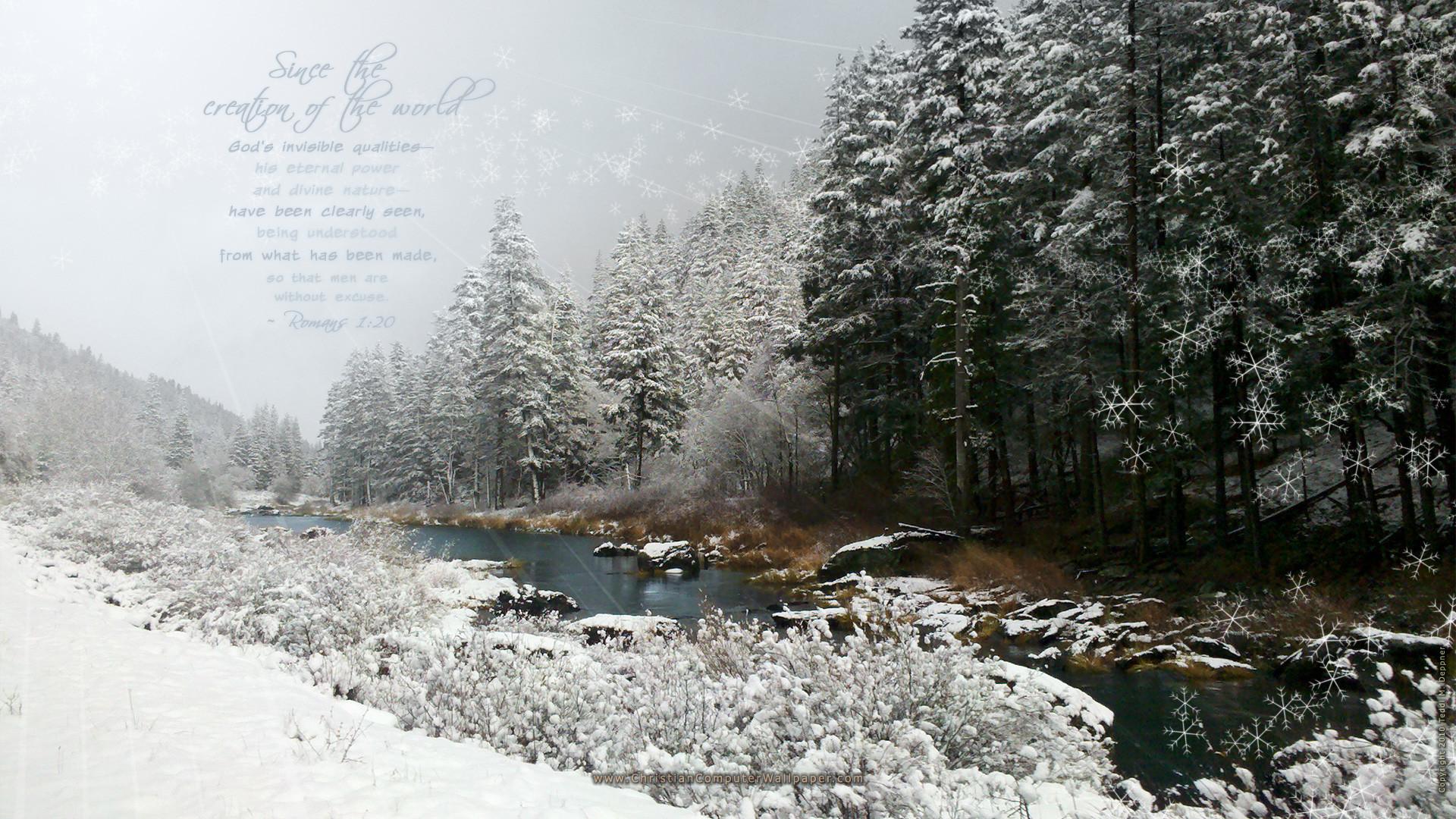 Winter Scripture Wallpaper (53+ images).