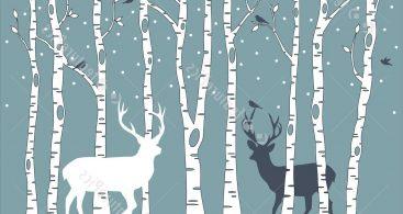 Winter Birch Tree Art Vector Archives.