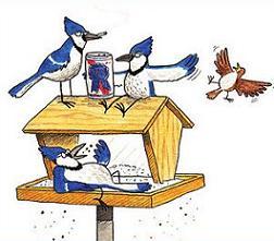 Free Bird Feeder Clipart.